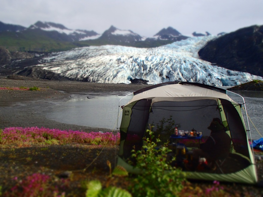 Glamping it up at Shoup Glacier