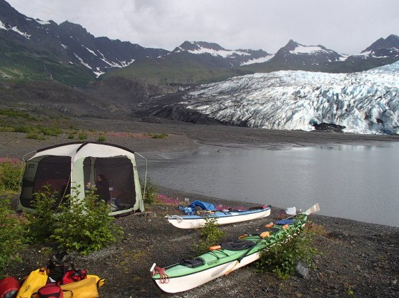 Shoup Glacier campsite