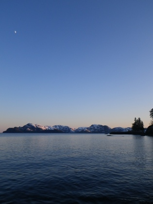Moonrise in Prince William Sound