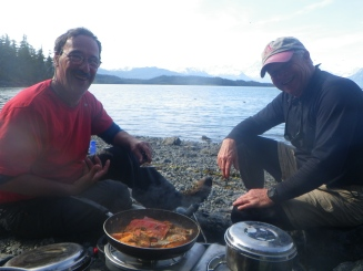 Fresh-caught Salmon in Heather Bay