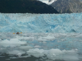 Thick with ice, Meares Glacier