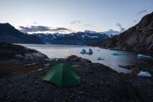 Campsite in Columbia Bay