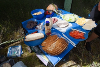 Lunch time on the roll-a-table!