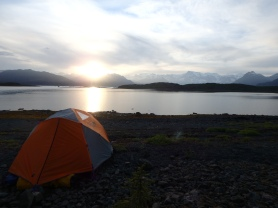 Beautiful sunset from camp