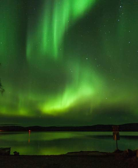 Northern Lights above Valdez Harbor