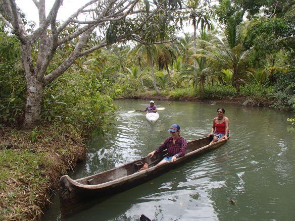 Diguar, Iguandili and I explore a river, Guna style