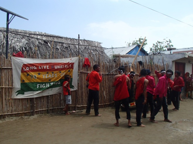 Participating in the Guna Revolution anniversary, Guna Yala