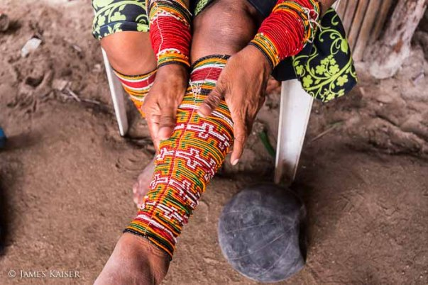 Traditional beads worn by the women