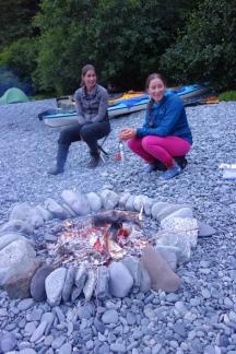 Story time on Glacier Island