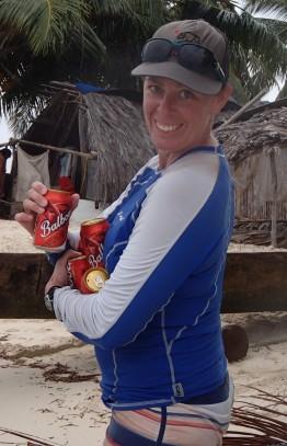 Ice cold Balboa, a Panamanian favorite