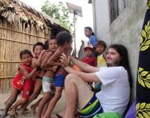 "Cute Guna boys ""tormenting"" Jared, Guna Yala"