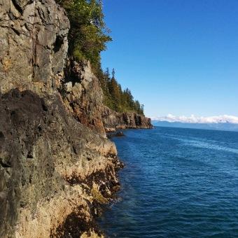 Rugged coastline of Glacier Island