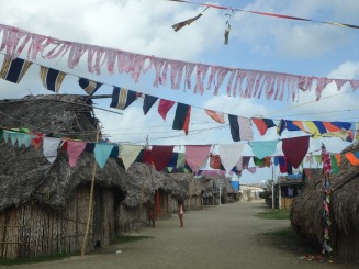 The community of Isla Tigre, after a celebration