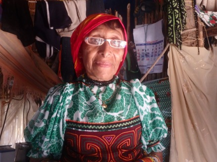 Ernestina with her new eyeglasses