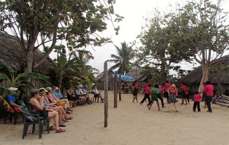 One of my kayaking groups enjoying a Guna dance performance, Guna Yala