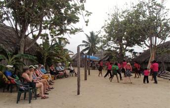 One of my kayaking groups enjoying a Guna dance performance, Guna Yala