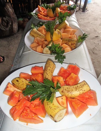 Fresh fruit breakfast