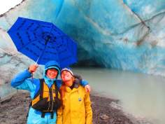 Providing protection from the rain at the Valdez Glacier