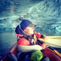 Ice cave exploration at the Valdez Glacier