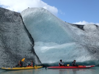Icebergs on the Valdez Glacier Lake