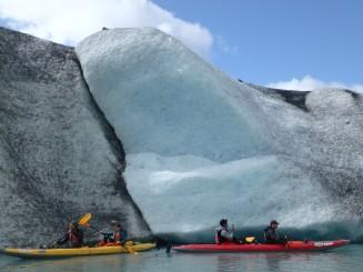 Icebergs on the Valdez Glacier Lake
