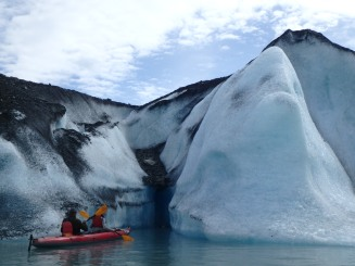 Ice exploration at the Valdez Glacier