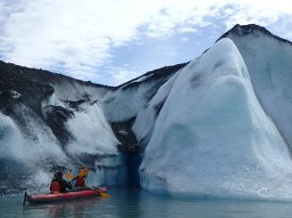 Ice exploration at the Valdez Glacier
