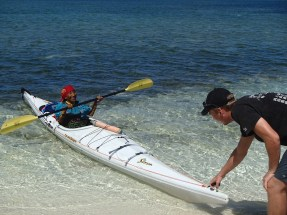 """Ernestina, my """"little old lady"""" hero, tries out kayaking for the first time"""