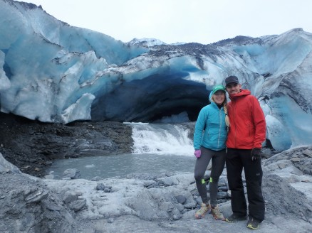 At the face of Shoup Glacier