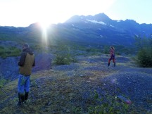 An evening stroll around Shoup Glacier