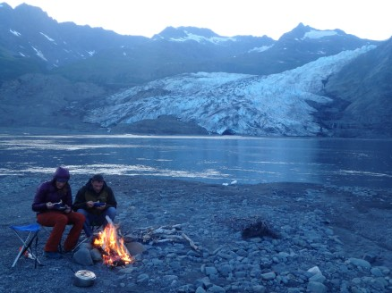 No cold butts while you enjoy dinner at Shoup Glacier