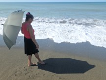 Anna, releasing newborn turtles