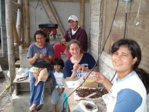 "Helping to make crafts with ""Las Colibris"" women's group, Ecuador, 2007"