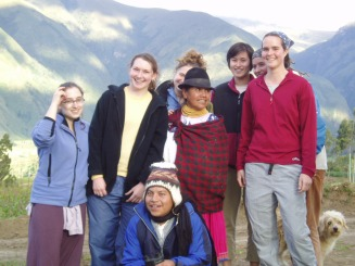 Smiles all around, after helping this Ecuadorian family in their fields, 2004