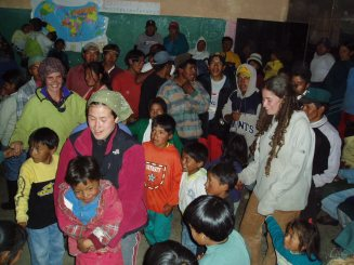 Dance party after a day of work, Ecuador, 2004