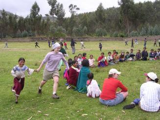"""Duck, duck, goose! Rather, """"pato, pato, ganso!"""" Ecuador, 2004"""