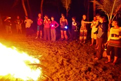 A bonfire to bring in the New Year, Sichirdup