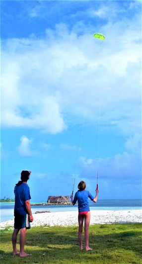 Phil & Denali flying kites