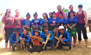 With the youth Guna dancers