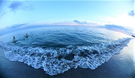 Sunset swim on the Pacific