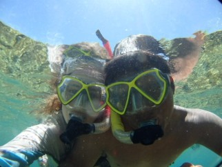 Snorkeling with friends, Isla Coiba