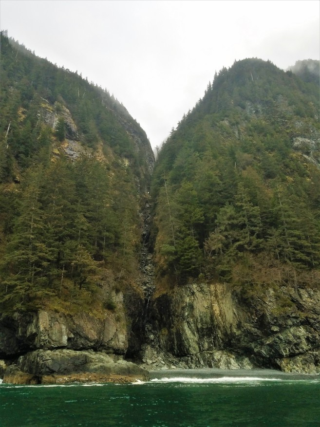 Rugged mountains on Glacier Island