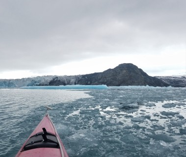 Through the ice at the face of Columbia Glacier