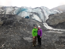 Evan & Katie at the face of Shoup Glacier, 2017