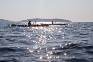Smooth paddling in the Adriatic Sea