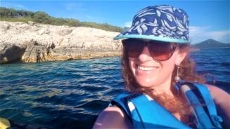 Happy paddler, Molat, Croatia