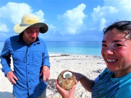 Refreshing coconut water, Guna Yala