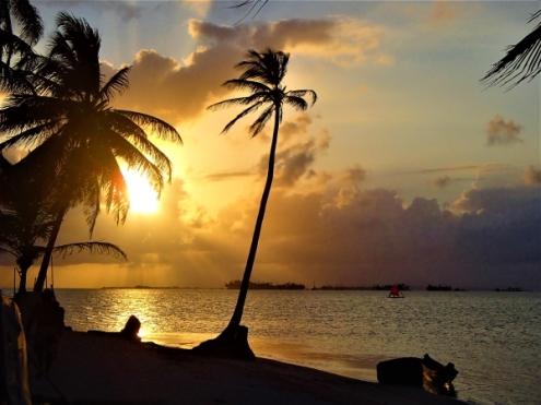 Magical sunset in Guna Yala