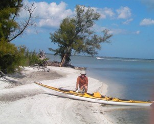 Don on a spoil island in the Indian River Lagoon, Florida