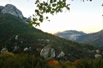Sunset at the mountain hut, Paklenica National Park